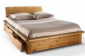 Lit Bois Massif 140x190 : comparatif meilleurs lits avec tiroir de rangement int gr ~ Teatrodelosmanantiales.com Idées de Décoration