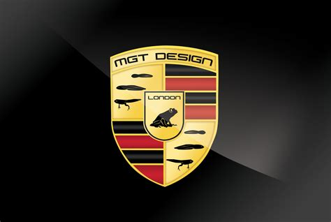 porsche logo black background mgt design homage to porsche logo mgt design