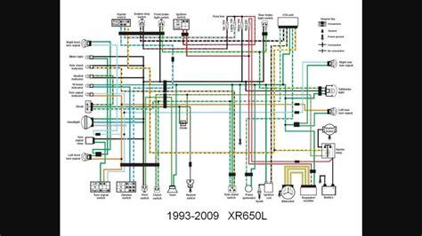 Honda Xr650l Wiring Diagram by Redrawn Xr650l Wiring Diagram Xr600r Xr650r L