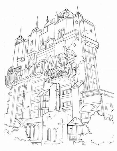 Hollywood Coloring Portland Terror Tower Sign Comics