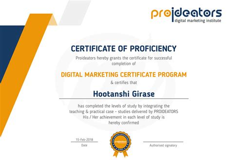 digital strategy certification proideators certificates proideators
