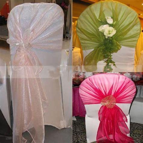 wedding party banquet chair organza sash bow decor 79 quot x