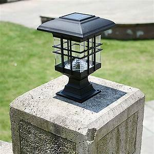 retro led solar panel lamp pillar wall lamp outdoor solar With outdoor light fixtures for pillars