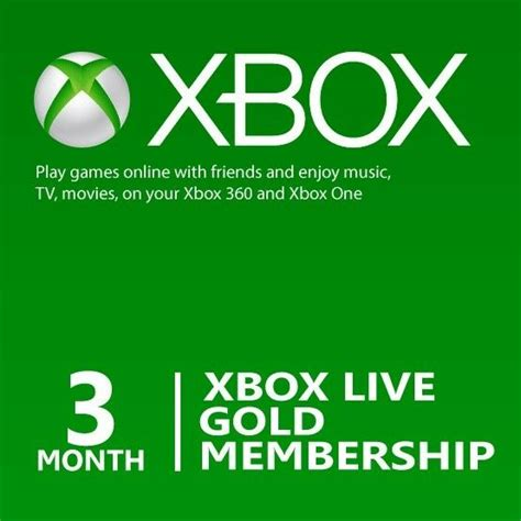 1 xbox live microsoft 3 month xbox live gold membership subscription for xbox one xbox 360 ebay