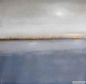tableau peinture contemporaine paysage marin abstrait With couleur gris bleu peinture 4 tableau peinture contemporaine paysage minimaliste
