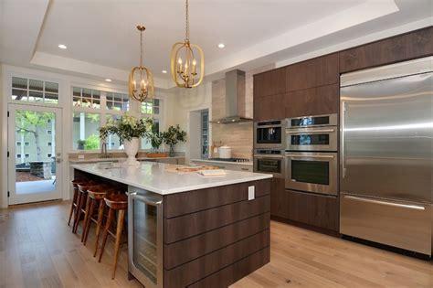 kitchen island with refrigerator island wine cooler contemporary kitchen pne prize home 5221