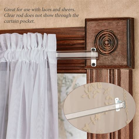 Clear Drapery Rods by Clear Curtain Rod For Laces And Sheers 28 Quot To 120 Quot