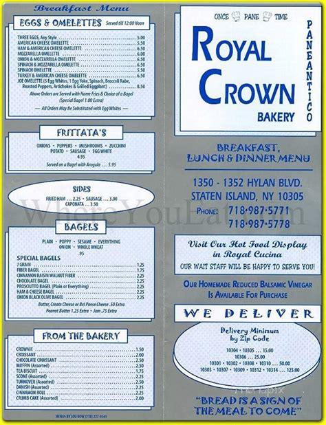foto de Menu of Royal Crown Bakery in Staten Island NY 10305