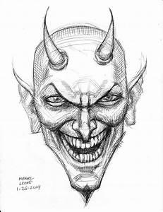 Devil (pen sketch) 1-26-2014 by myconius on DeviantArt
