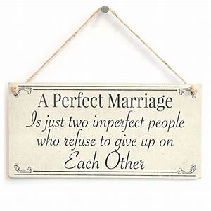 A Perfect Marriage Is just two imperfect people who refuse ...