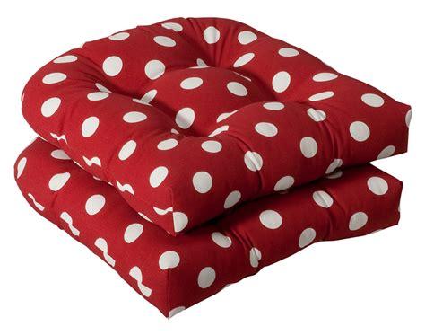 2 outdoor patio wicker chair cushions polka dot ebay
