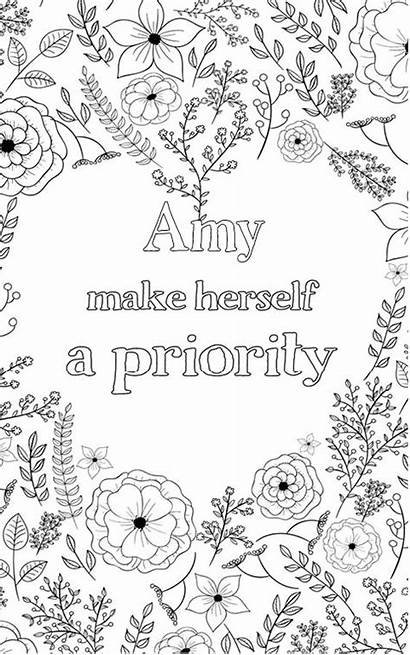 Amy Adult Coloring Pages Word Personalised Nobel