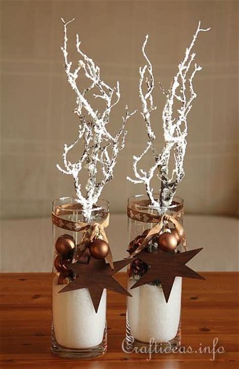 christmas  winter decoration brown centerpieces