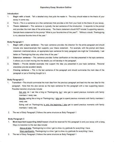 thesis template 25 essay outline templates pdf doc free premium templates
