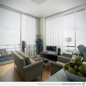 20 small living room ideas home design lover With condo living room design ideas