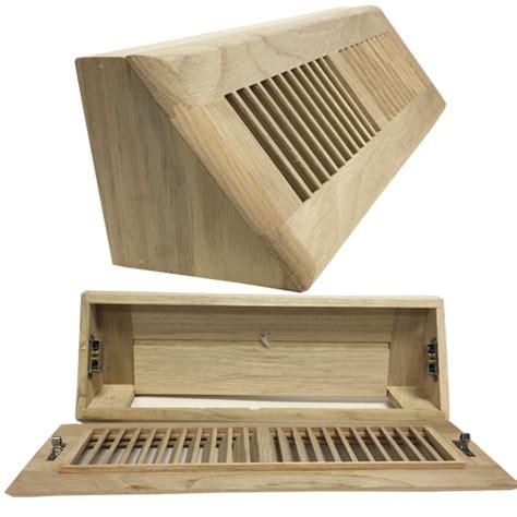 white oak wood baseboard register air vent diffuser