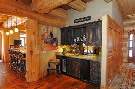 log home wet bar breckenridge ski home home decor log