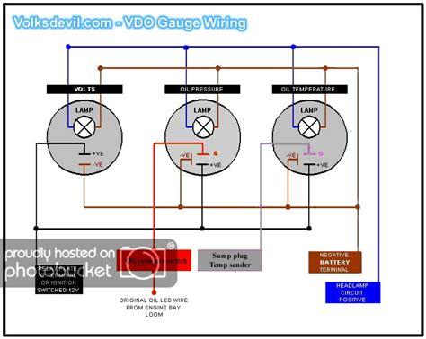 Vdo Oil Pressure Gauge Wiring