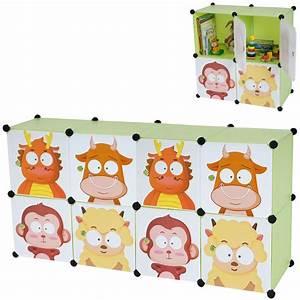 Rangement Chambre Enfant : tag re meuble de rangement chambre enfant 8 compartiments ape04003 d coshop26 ~ Teatrodelosmanantiales.com Idées de Décoration