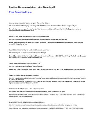 submit printable recommendation letter  postdoctoral