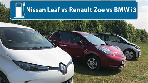 nissan leaf vs renault zoe vs bmw i3 which is the best used electric car