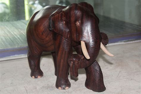 dsource products elephant wood carving thrissur