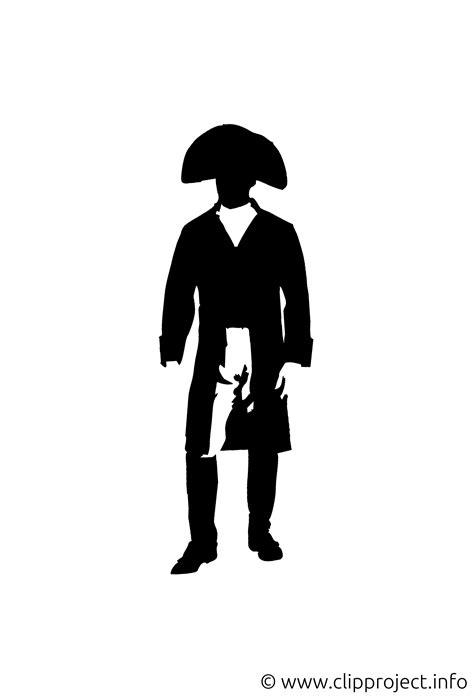 silhouette napoleon clipart bild