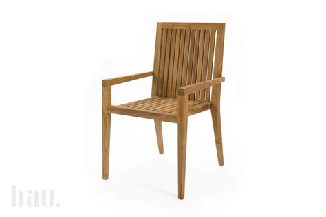 menton solid teak dining chairs bau outdoors