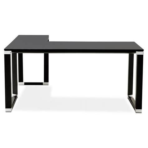 bureau d angle en bois bureau d 39 angle design corporate en bois noir