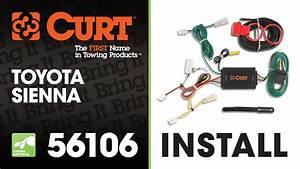 Trailer Wiring Install  Curt 56106 On 2012 Toyota Sienna