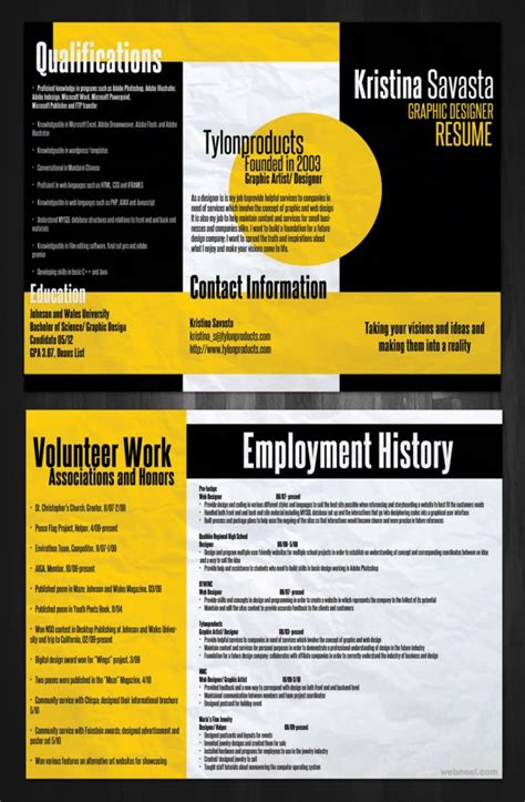 Creative Resume Design 26 brilliant and colorful resume designs that will make