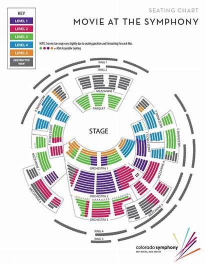 Seating Hall Concert Boettcher Chart Charts Symphony