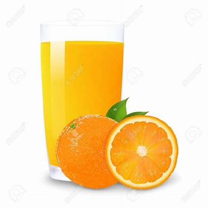 Juice Orange Clipart Vector Glass Background Clip