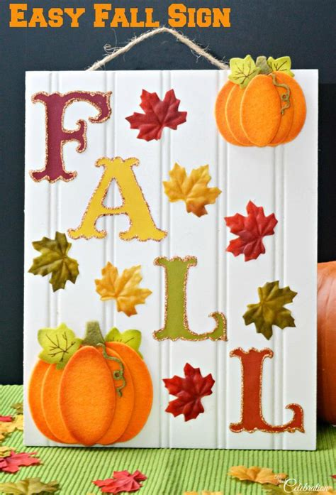 easy fall sign fall wood crafts fall crafts fall