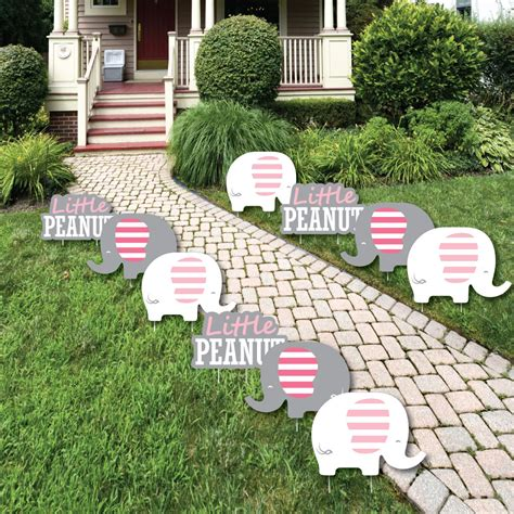 pink elephant lawn decorations outdoor girl baby