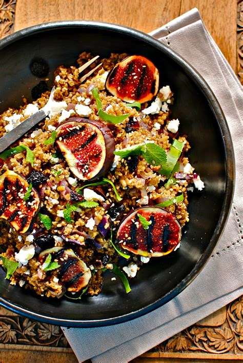 lebanese freekeh  fig salad freekehing fabulous