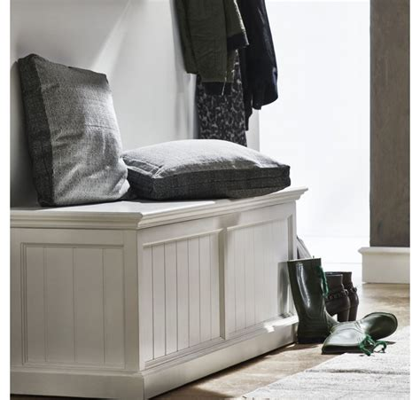 coffre banc de rangement collection leirjford bois blanc chaise tabouret pouf meubles bois