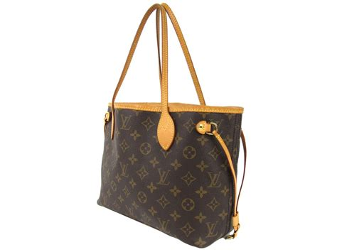 authentic louis vuitton neverfull pm shoulder tote bag