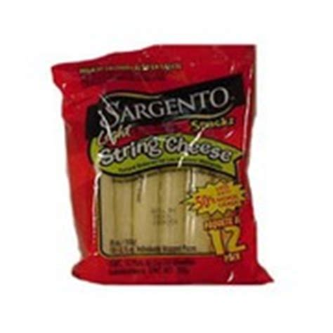 sargento string cheese mozzarella light calories