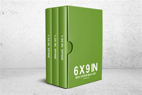 6 X 9 Book Box Set Psd Mockup (reinvented)