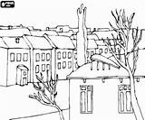 Coloring Pages Neighborhood Adult Printable Cities Oncoloring Printables sketch template