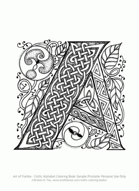 Free Adult Coloring Pages Celtic Coloring Home