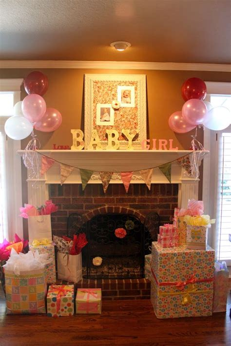 Chagne Decoration Ideas - mantel for shower baby shower change to blue and