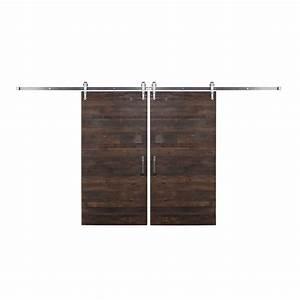 rustica hardware bi parting 42 in x 84 in rustica With bi parting sliding barn doors