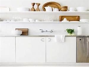 Etagere De Rangement Cuisine : etageres blanches pour rangement cuisine scandinave ~ Premium-room.com Idées de Décoration
