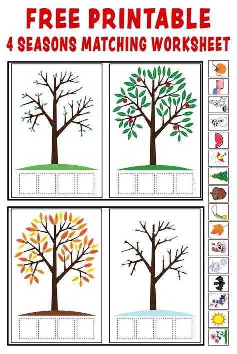 quot season match up quot free printable 4 seasons matching 221   Seasons 20worksheet pinterest 20Blog 1024x1024