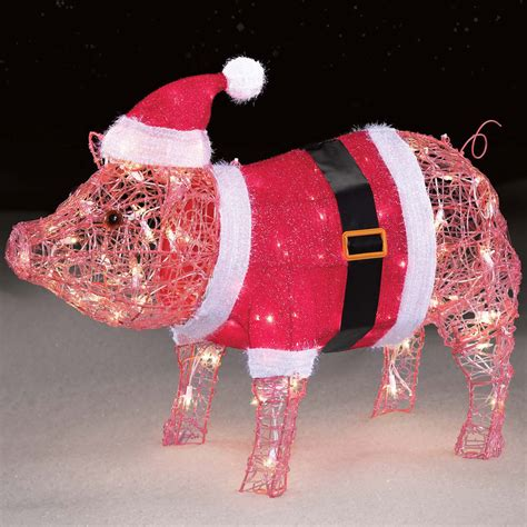 trimming traditions   acrylic mama pig