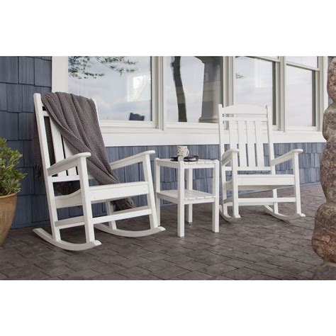 polywood patio furniture reviews photos polywood presidential white 3 patio rocker set