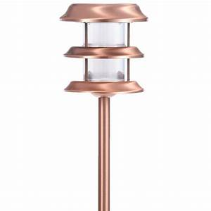 hampton bay copper outdoor led ground stake solar light 6 With hampton bay outdoor lighting stakes