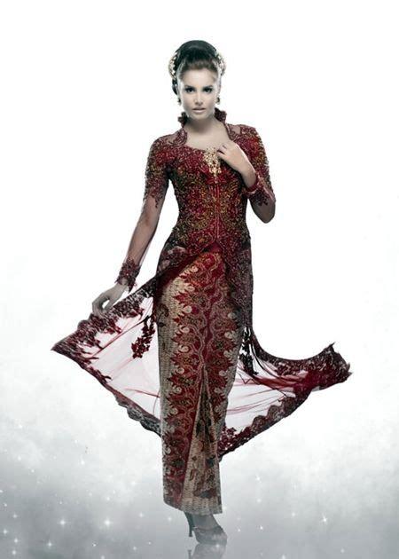 model kebaya pengantin inar merah maroon kebaya